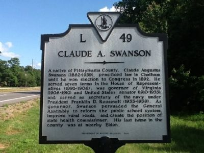 Claude A. Swanson Marker image. Click for full size.