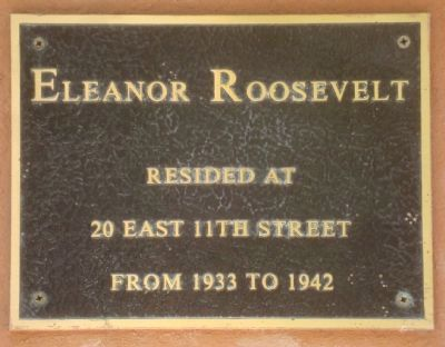 Eleanor Roosevelt Marker image. Click for full size.