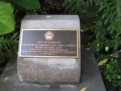 City of Burbank Time Capsule Marker image. Click for full size.