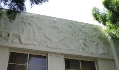 East side bas-relief image. Click for full size.