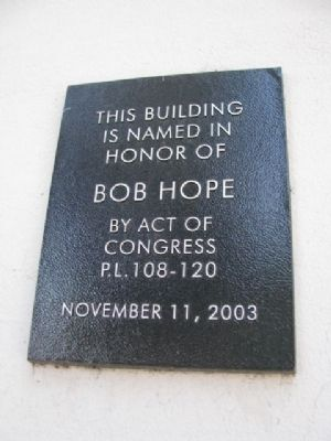 Bob Hope Marker image. Click for full size.