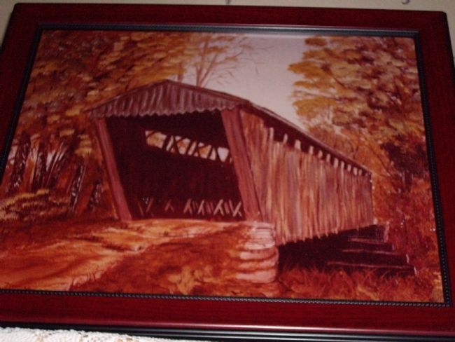 Switzer Covered Bridge Marker Photo, Click for full size