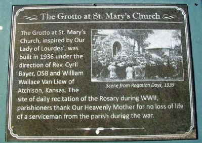 The Grotto at St. Mary's Church Marker image. Click for full size.