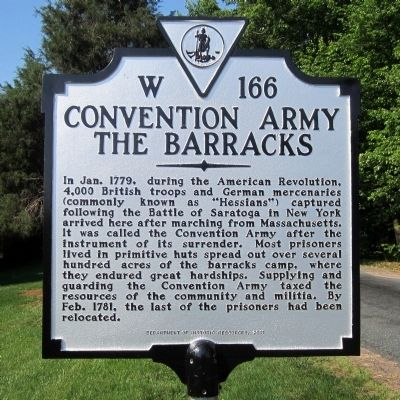 Convention Army The Barracks Marker image. Click for full size.
