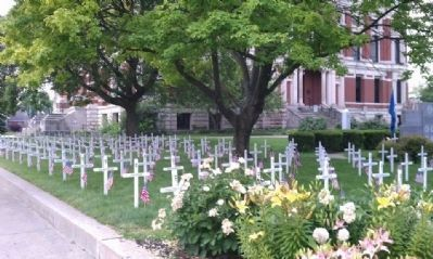 2012 - Memorial Day - - Crosses In Place image. Click for full size.