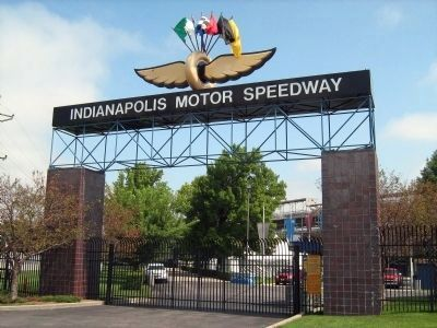 Indianapolis 500 Track - I. M. S. Main Gate image. Click for full size.