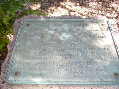 Roberts County Marker image. Click for full size.
