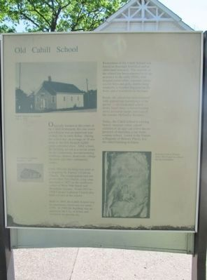 Old Cahill School Marker image. Click for full size.
