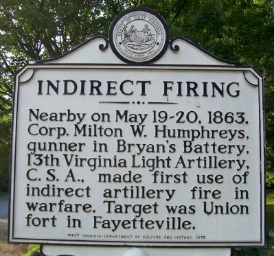 Indirect Firing Marker Photo, Click for full size