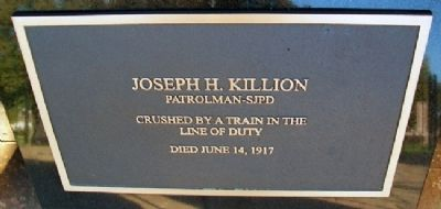 Peace Officers Memorial - Patrolman Killion image. Click for full size.