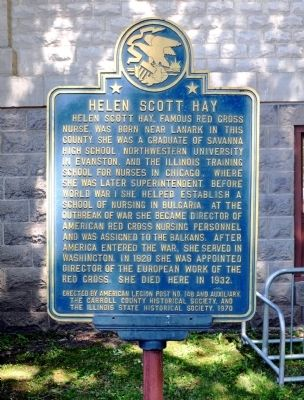 Helen Scott Hay Marker image. Click for full size.