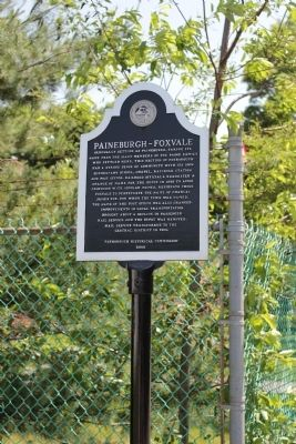 Paineburgh-Foxvale Marker image. Click for full size.