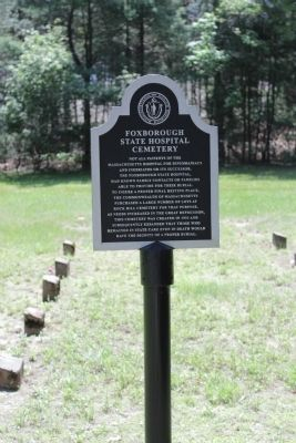 Foxborough State Hospital Cemetery Marker image. Click for full size.