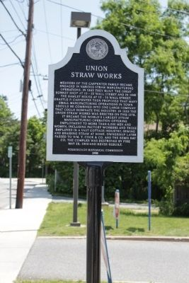 Union Straw Works Marker image. Click for full size.