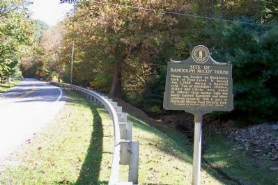 Site of Randolph McCoy House Marker image. Click for full size.