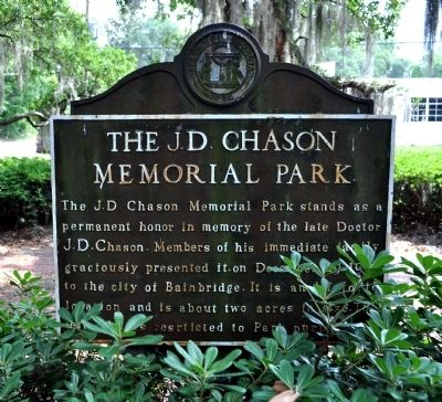 Side 1: The J.D. Chason Memorial Park Photo, Click for full size