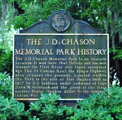 Side 2: The J.D. Chason Memorial Park History Marker Photo, Click for full size
