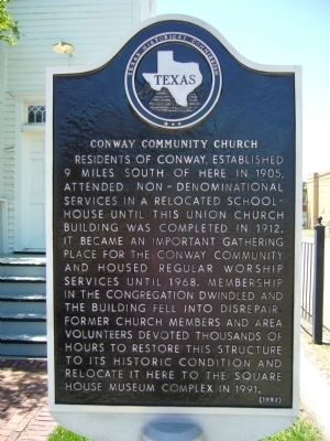 Conway Community Church Marker image. Click for full size.