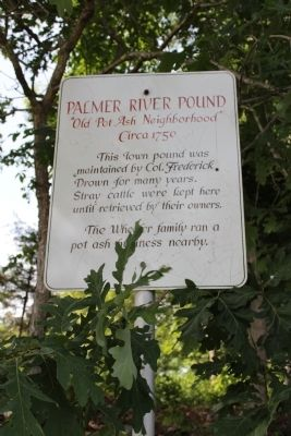 Palmer River Pound Marker image. Click for full size.