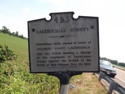 Dyer County / Lauderdale County Marker image. Click for full size.