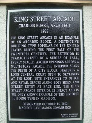 King Street Arcade Marker image. Click for full size.
