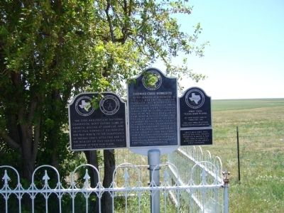 Thomas Cree Homesite Marker <i>is in the center</i> image. Click for full size.