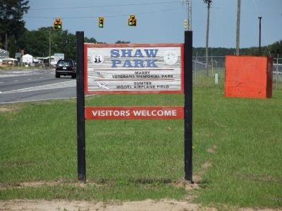 Sign at the entrance to Shaw Park image. Click for full size.