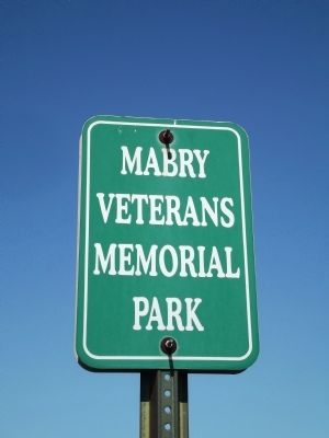 Sign for Mabry Veterans Memorial Park image. Click for full size.