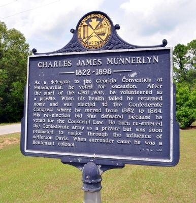 Side 1: Charles James Munnerlyn Marker image. Click for full size.