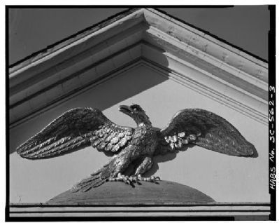 Second Bank of the United States Gilded Pediment Eagle image. Click for full size.