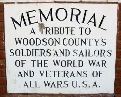 World War and Veterans Memorial Marker image. Click for full size.