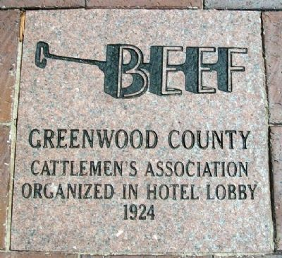 Greenwood County Cattlemen's Association Marker image. Click for full size.