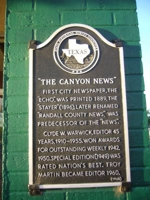 The Canyon News Marker image. Click for full size.