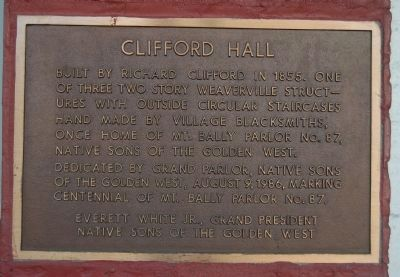 Clifford Hall Marker image. Click for full size.