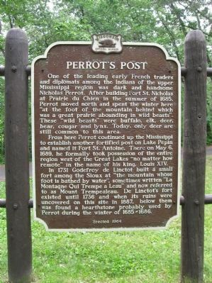 Perrot's Post Marker Photo, Click for full size