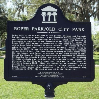 Roper Park / Old City Park Marker Photo, Click for full size