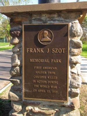 Frank J Szot Memorial Park Marker image. Click for full size.
