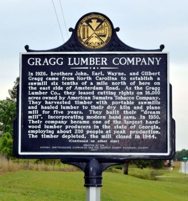 Side 1: Gragg Lumber Company Marker image. Click for full size.