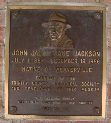 "John Jacob ""Jake"" Jackson Plaque image. Click for full size."