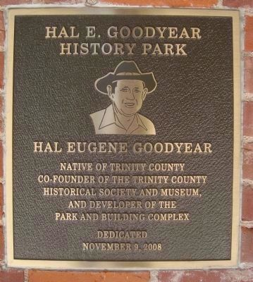 Hal E. Goodyear History Park Plaque image. Click for full size.