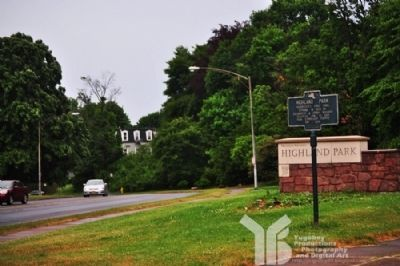 Facing North - Highland Park Marker Photo, Click for full size