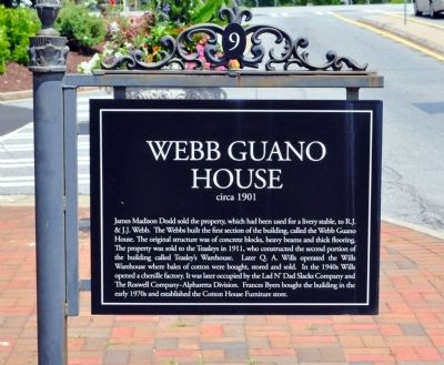 Webb Guano House Marker image. Click for full size.