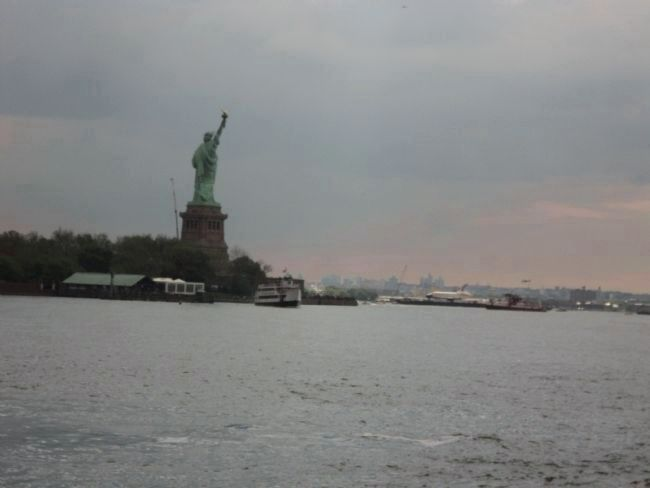 Lady Liberty Watches the Enterprise Photo, Click for full size