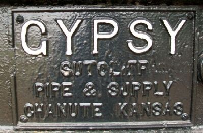 The Gypsy Spudder Builder's Plate image. Click for full size.