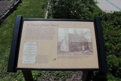 A Thoroughfare Town Marker Photo, Click for full size
