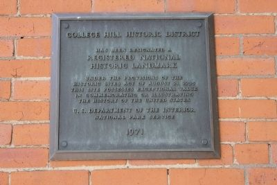 College Hill Historic District Marker image. Click for full size.