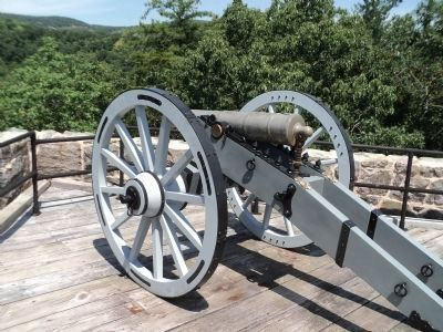 Bronze Field Gun on West Wall image. Click for full size.