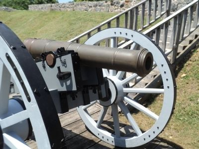 Bronze Field Gun in Fort Putnam image. Click for full size.