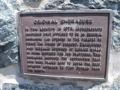 Original Embrasure Marker image. Click for full size.