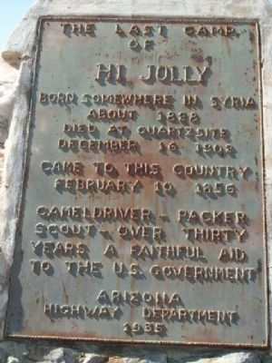 The Last Camp of Hi Jolly Marker Photo, Click for full size